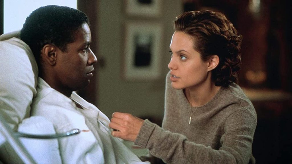 Denzel Washington et Angelina Jolie dans The Bone Collector