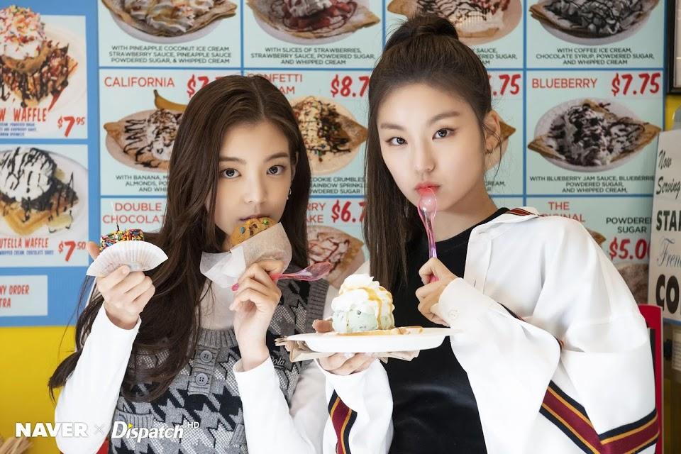 itzy yeji lia nourriture