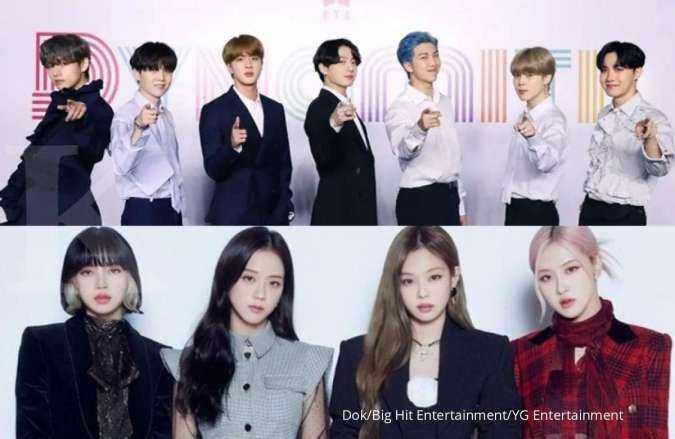 BTS dan BLACKPINK menjadi grup K-Pop terbaik di bulan Maret 2021, ini peringkatnya