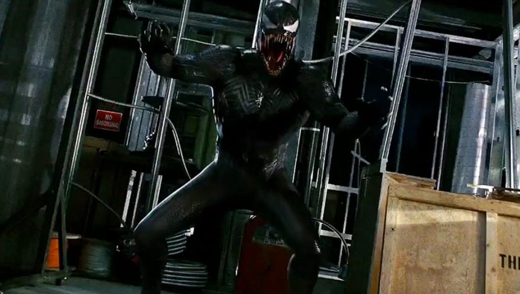 Topher Grace dans le rôle de Venom dans Spider-Man 3.